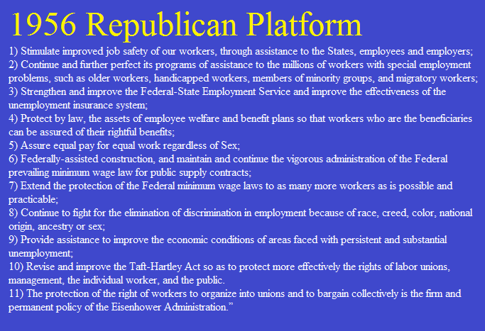 Image result for 1956 GOP platform images
